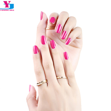 High Quality Pure Rose Color Hot 100% Real Nail Polish Nail Art Sticker Long Lasting UV Gel Nail Patch Decorations Nails Film