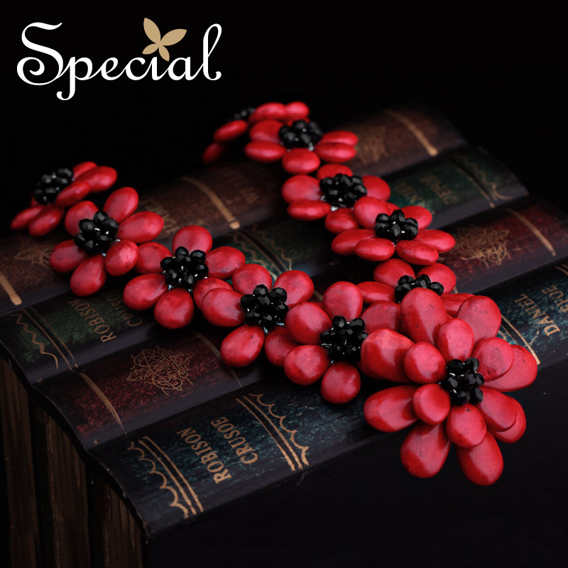 Special Brand New Fashion Flower Maxi Necklace Natural Onyx Necklaces & Pendants Statement Fine Jewelry for Women XL141148 - 3