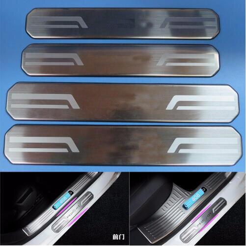 TTCR-II высокое качество 4 шт внешний нержавеющая сталь дверь порога накладка плита для Пежо 408 2014-2016 наклейки автомобиль крышки