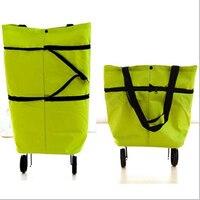 PACGOTH Dorywczo Oxford Torby Przenośne Składane Chowane Torby Na Zakupy dla Kobiet Rynku Torba Na Zakupy Z Koła 33 cm x 28 cm 1 PC