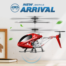 SYMA S107H-E  3.5CH  RC Helicopter RTF Remote control  RC toy Gift with  Gyro Single Propeller original Box package original red white syma s39 2 4g 3ch rc helicopter gyro led flashing aluminum anti shock remote control toy rc drone dron