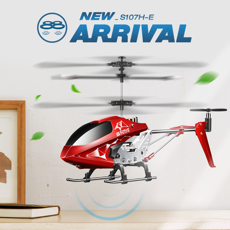 SYMA S107H E 3.5CH RC Helicopter RTF Remote control RC toy Gift with Gyro Single Propeller original Box package