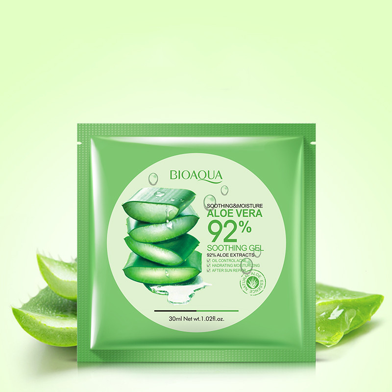 BIOAQUA Natural Aloe Vera Gel Face Mask Skin Care Moisturizing Oil Control Acne Wrapped Mask Shrink Pores Facial Mask