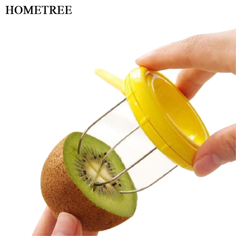 HOMETREE Fruit Kiwi Stainless Steel Cutter Device Cut Digging Core Twister Slicer Peeler Kitchen Accessories Fruits Tools H503