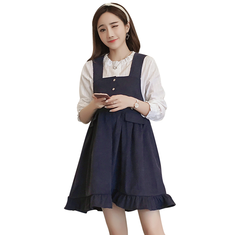 291306bef4615 Pengpious pregnant women winter dress suits loose design long sleeved sweet  bowknot sundress +basic shirts two piece clothes set-in Dresses from Mother  ...
