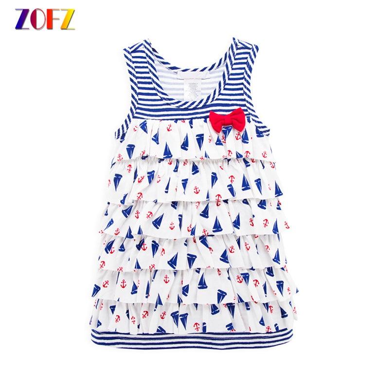 ZOFZ Summer Princss Dress Newborn Baby Layered Dresses kids clothes girl Cotton Sleevele ...