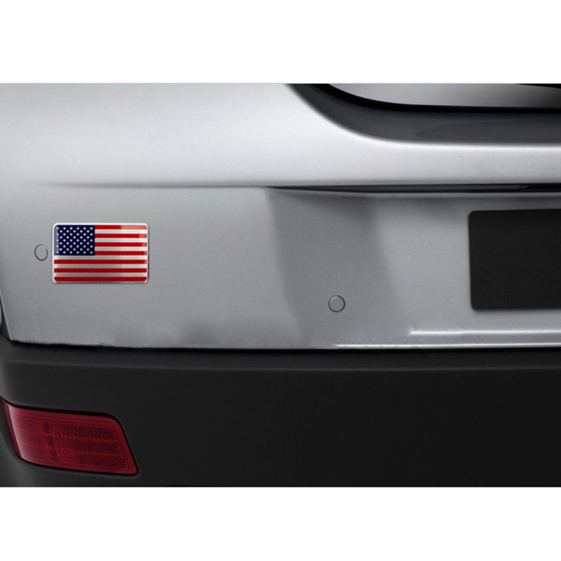 DSYCAR Metal American US Flag Car sticker logo Emblem Badge Car - Exteriör biltillbehör - Foto 6