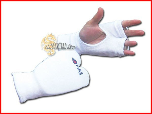 Free Shipping MMA / Muay Thai / Karate / TKD Elastic Protective Padded Fingerless Training Gloves Free size (PGBG041) !!