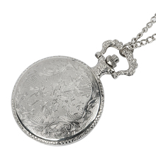 цены Silver Roman Arabic Number Quartz Antique Pendant Chain Pocket Watch for Men and Women with Necklace Pocket Chain