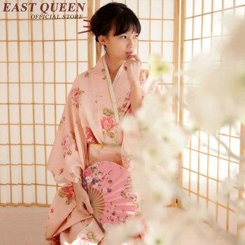 Vestido de quimono japonês tradicional mulher 2018 obi haori kimonos gueixa traje tradicional quimonos japoneses cosplay KK813