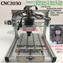 180w/300w spindle CNC 2030+support laser GRBL/USBCN Diy mini CNC machine engraving machine,3Axis pcb Milling machine,Wood Router