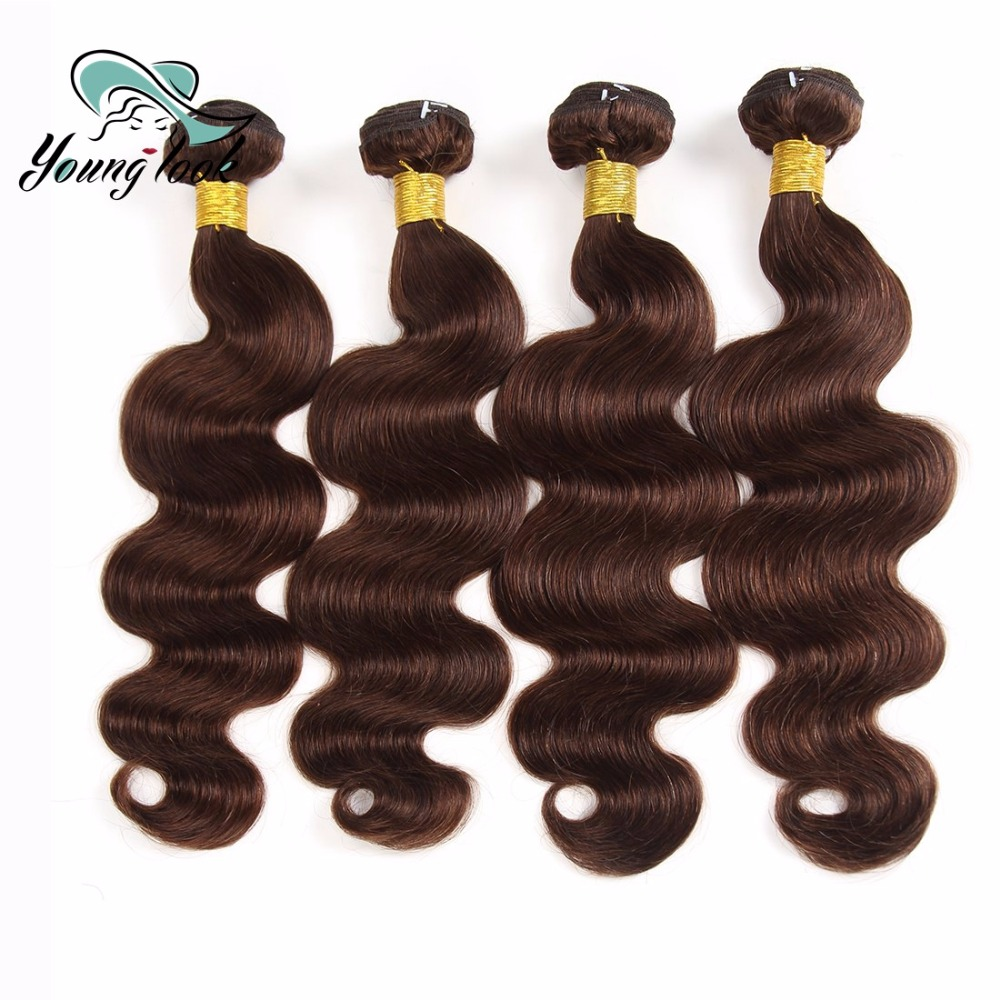 Young Look Peruvian Remy Human Hair Weave Bundle Body Wave 4 Bundle #4 Peruvian Hair Weave Bundles