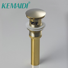KEMAIDI всплывающий слив Pop-Up de drenagem дизайн для кухни/ванной бассейна сосуд Золотой полированный отделка