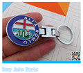 ALFA ROMEO for Mito 147 156 159 166 Giulietta Spider GT arrival Parallel-chord alloy car emblem keychain ring key chain