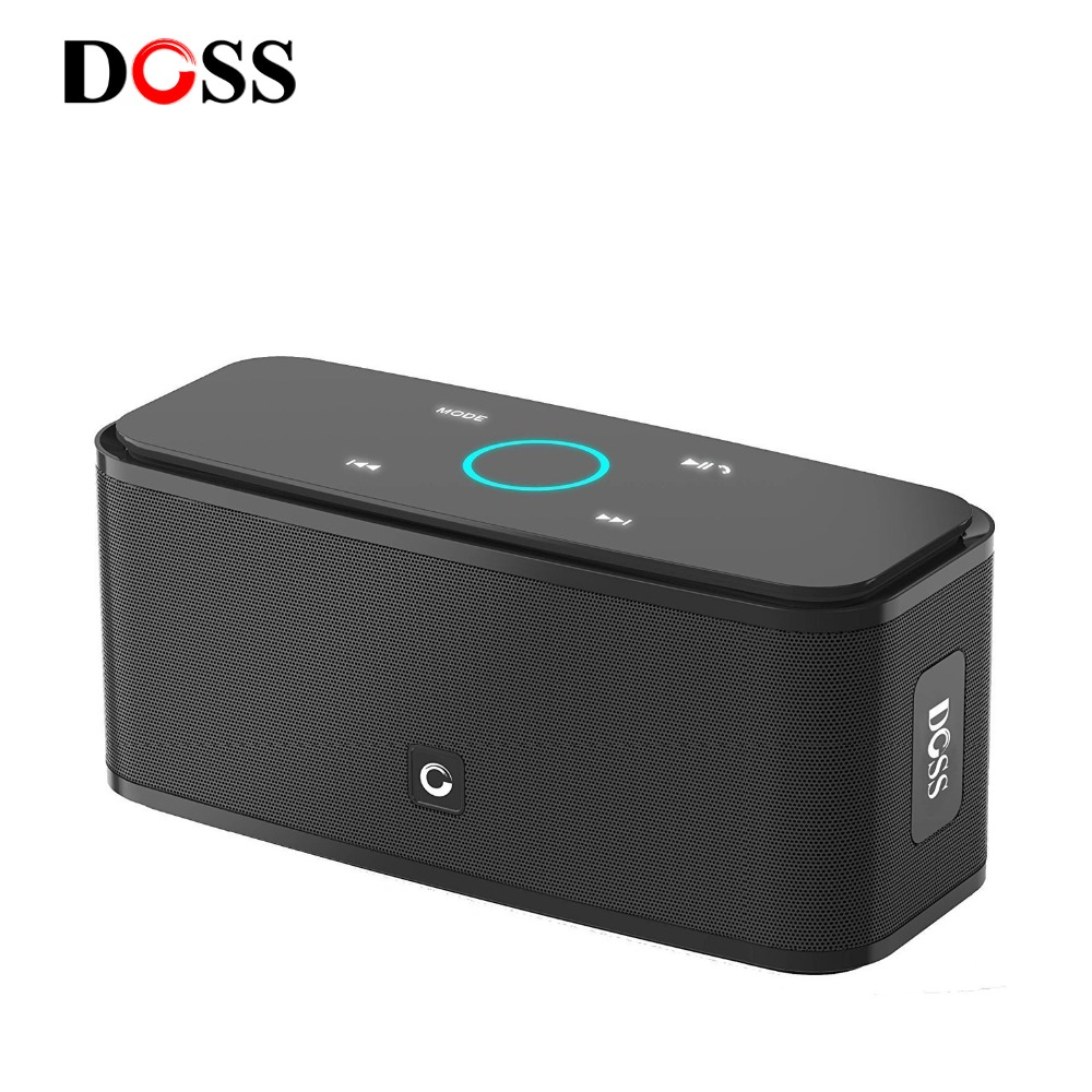 DOSS SoundBox Touch Control Bluetooth Speaker 2*6W Portable Wireless Speakers Stereo Sound Box with Bass and Built-in Mic(China)