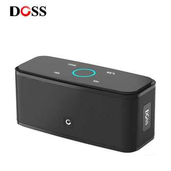 Altavoz DOSS con Control táctil Bluetooth, altavoces inalámbricos portátiles de 2x6 W, caja de sonido estéreo con graves y micrófono incorporado