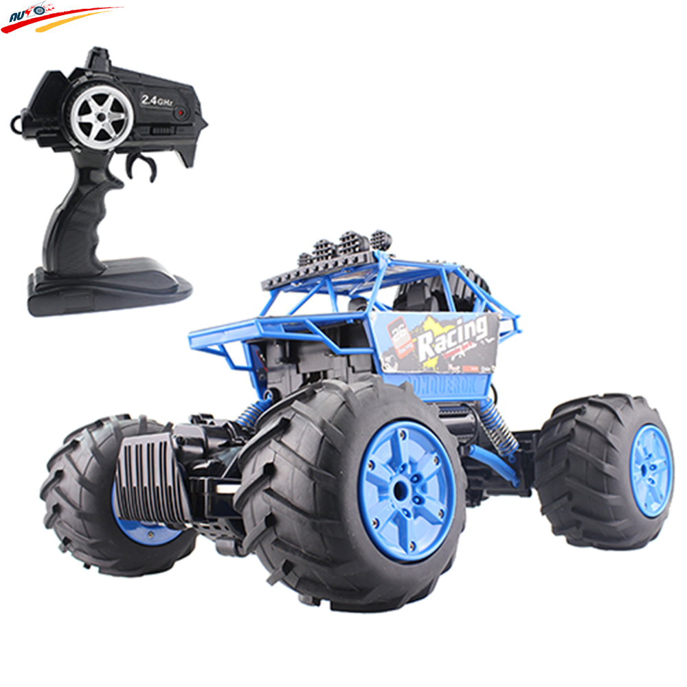 RC Car Amphibious Rock Crawler Car 4WD 2.4G Dual Motor Waterproof Monster Truck Remote Control Off-Road Vehicle Toys Kids Hobby hsp rc car 1 10 electric power remote control car 94601pro 4wd off road short course truck rtr similar redcat himoto racing