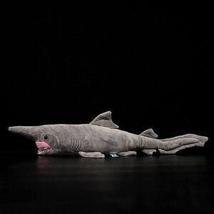 Image 4 - ยาว 66 ซม.เหมือนจริง Goblin Shark ตุ๊กตาของเล่น Super นุ่มสมจริงสัตว์ทะเล Elfin Shark Plush ของเล่นสำหรับเด็ก