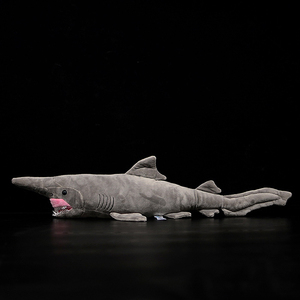 Image 4 - 66 centimetri Lunghi Realistica Goblin Squalo Farcito Giocattoli Super Morbido Realistico Mare Animali Elfin Shark Peluche Giocattolo Per I Bambini