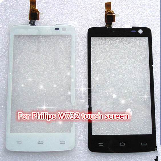Good tested Touch Screen Glass sensor panel For Philips Xenium W732 smartphone Capacitive screen Replacement