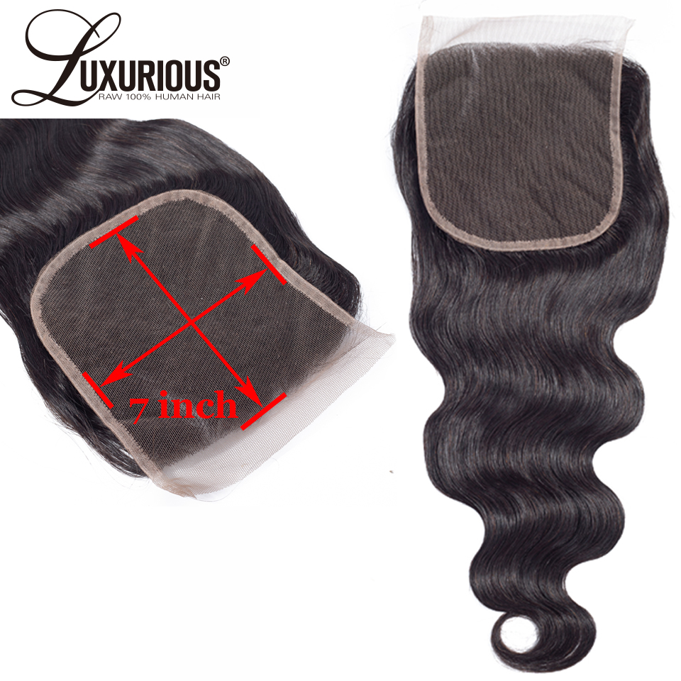 Hair Extensions & Wigs Lace Closures & Frontals Audacious 7x7 Lace Closure With Deep Parting Space Body Wave Brazilian Remy Hair Pre Plucked Lace Frontal Closure Human Hair Extensions