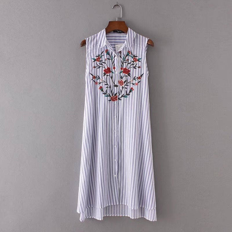 2017 fashion women sleeveless casual shirt dresses ladies for Sleeveless dress shirt womens