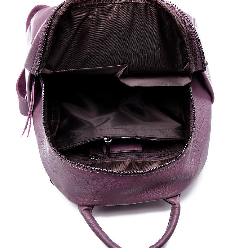 86cc4b4b2b7 High Quality Soft Leather Backpacks Women Shoulder Bags Ladies Shoulder Bag  Small Women Backpack Rucksack Travel Bag Mochila Sac