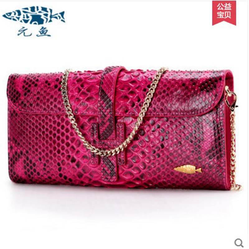 yuanyu 2018 new hot free shipping python leather  single shoulder bag imports Snake skin messenger bag  chain female  women bag yuanyu 2018 new hot free shipping real thai crocodile women handbag female bag lady one shoulder women bag female bag