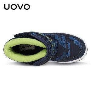 Image 5 - UOVO 2020 новые зимние ботинки, детская теплая обувь, брендовая модная зимняя обувь для мальчиков и девочек, зимние ботинки для малышей, бархатная обувь, размер 24 36 #