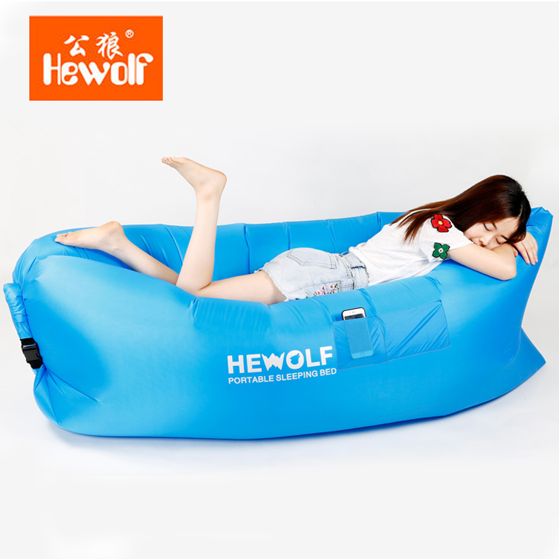 Hewolf Outdoor Air Pocket Portable Lazy Sofa Bed Beach Sleeping In Camping Mat From Sports Entertainment On Aliexpress Alibaba Group