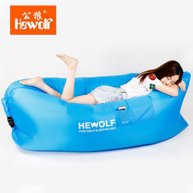 Hewolf Outdoor Air Pocket Portable Lazy Sofa Bed Beach Sleeping In