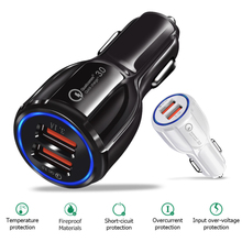 Car USB Charger Quick Charge 3.0 Mobile Phone Charger 2 Port USB Travel Car Adapter charger for iPhone Samsung Xiaomi цены