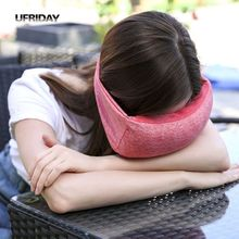 UFRIDAY Travel Eye Pillow Neck Portable Flight Car Nap Head Support Mask Aircraft Voyage Pillows Bib Cushion