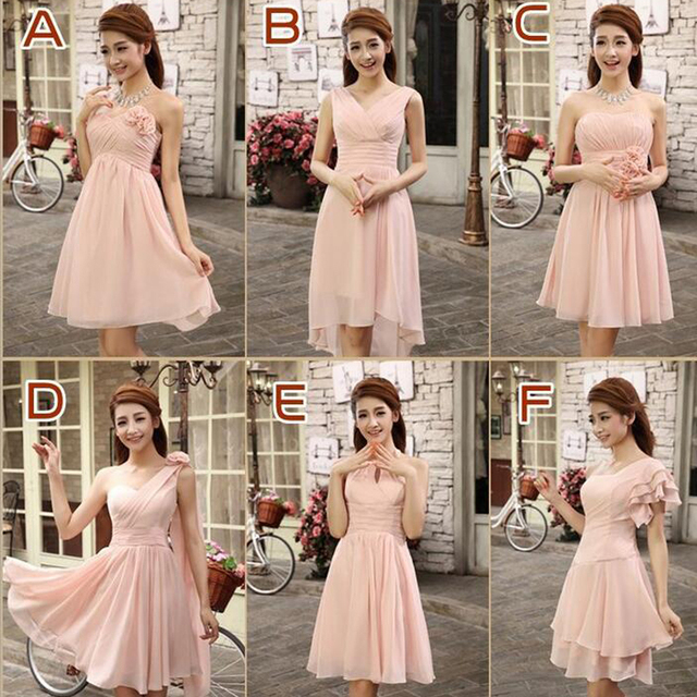 0a4b4636609e0 2017 New fashion bridesmaid dresses short design toast bride chiffon dinner  dress costume bridesmaid dress vestido madrinha