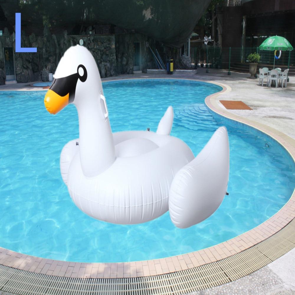 Matelas gonflables géants de piscine de flamant rose de cygne de 1.9 M flottent l'anneau de natation de cygne jouets d'amusement de piscine de l'eau de vacances 30mm d'épaisseur