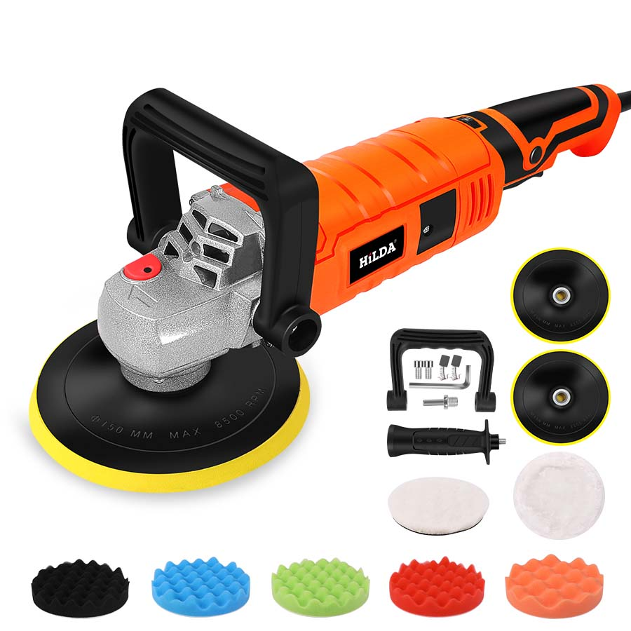 1200W Car Polisher Variable Speed 3000rpm Car Paint Care Tool Polishing Machine Sander 220V M14 Electric Floor Polisher 2 orders