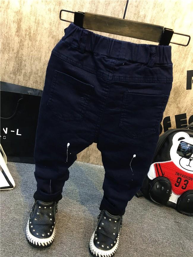 children baby boys autumn winter thick warm jeans pants (8)