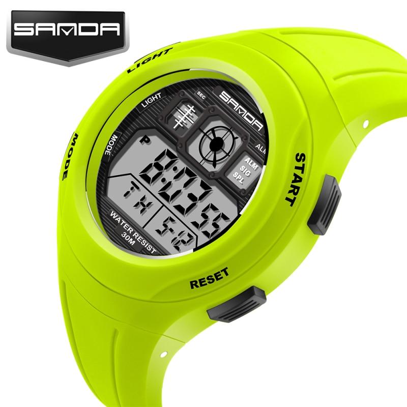 Mode SANDA Märke Sport Klockor Digital LED Quartz Klockor Barn - Barnklockor - Foto 2