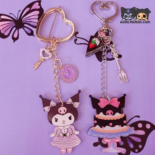 1 Pc Lovely moja melodia Cinnamoroll brelok japonia Kuromi Doll brelok dziewczyny prezenty