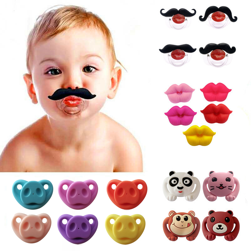2018 New Food Grade Silicone Funny Baby Pacifiers Dummy Nipple Teethers Toddler Pacy Orthodontic Soothers Teat For Baby Pacifier