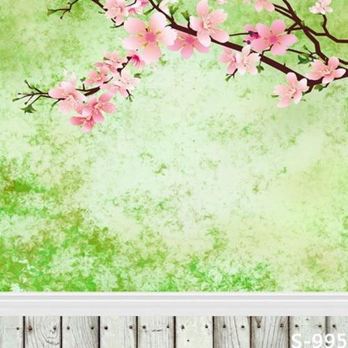 Online shop spring pink flowers green screen photography backdrops 5 spring pink flowers green screen photography backdrops 57ft white wood floor background studio custom backdrops newborn mightylinksfo