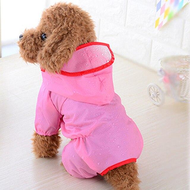 2019 nuevo perro mascota impermeable ropa mono ropa para perros pequeños al aire libre transpirable con capucha cachorro chaqueta impermeable