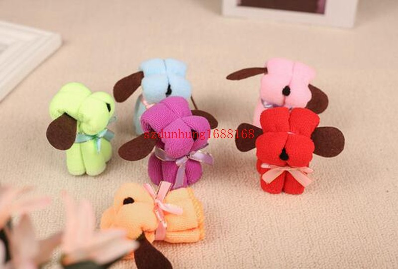 Free Shipping 150PCS  Supplies Product Size : 20 * 20CM Festivals Small Dog Puppy Towel Gift Ideas Birthday Gift