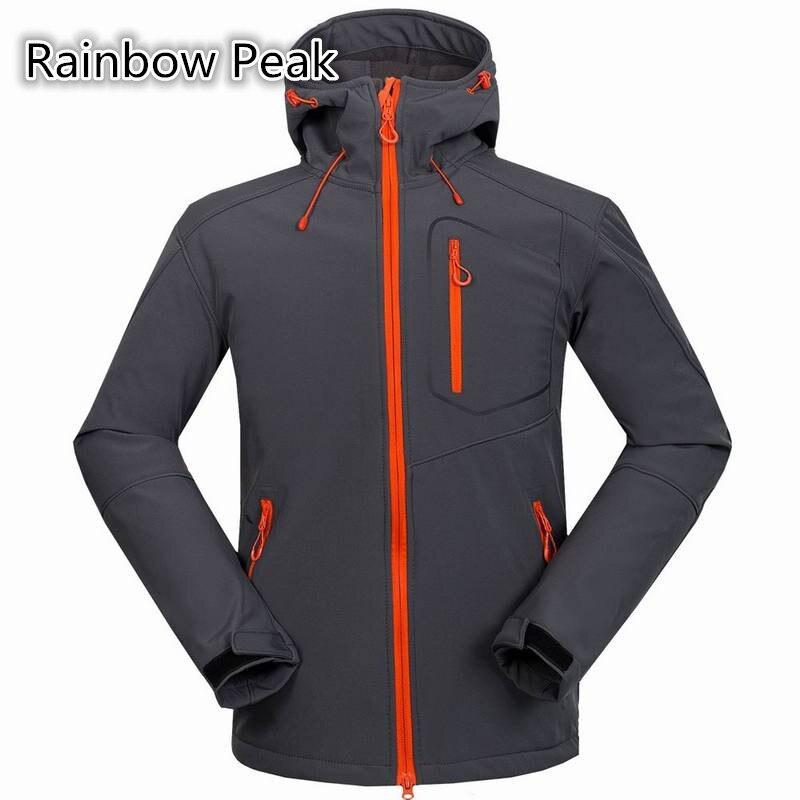 ФОТО High quality new outdoor camping hiking Jacket thermal Windproof Waterproof coat Fleece lining Men Soft Shell Jacket # 1558