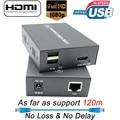2019 Новый псу удлинитель KVM HDMI RJ45 120 м USB KVM hdmi-удлинитель Протокола по Cat5e Cat6 HDMI удлинитель USB Поддержка одиночный блок питания