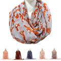 Fashion Women voile 4 Seasons Cute Little Fox Print Shawl Wrap Super Soft