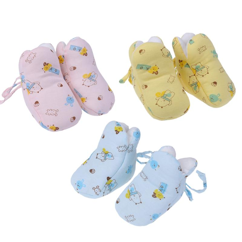 2017 Winter Warm Baby Shoes Cute Soft Cartoon Printed Cotton Shoes Socks For Newborn 0-6 M baby Warm Chrismas Baby Gift
