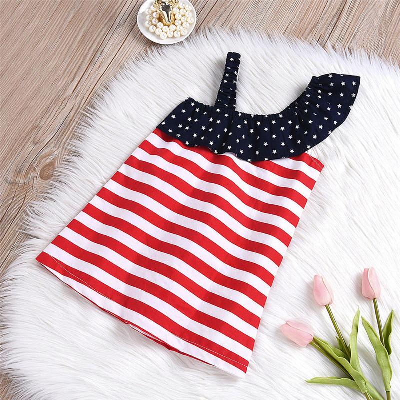 HTB1xVUXBZuYBuNkSmRyq6AA3pXa2 - Baby Girls Infant Kids 4th Of July Star Dress Clothes Sundress Casual Sets T#