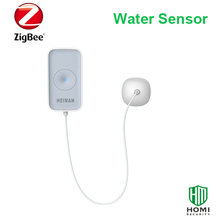 wireless flooding detector kitchen bathroom water leakage sensor IOS android APP control zigbee smart home alarm security system(China)