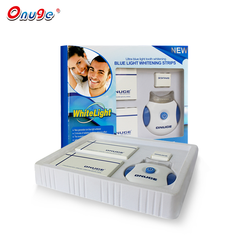 Onuge Teeth Whitening Kit With LED Light+28 Pouches Whitening Strips Professional Dental Tools Set Make At Home Adult Use grinigh professional home teeth whitening kit for 2 people blanchiment system 44